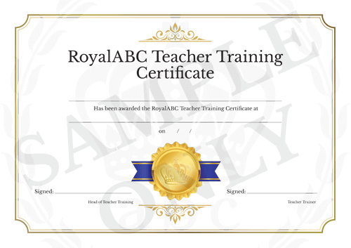 RoyalABC Teacher Training Certificate